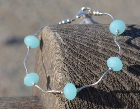 Floating Sea Glass Bracelet © Contemplation Marks