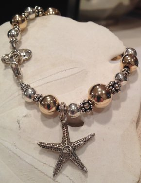 Gold and Silver Seaside Charm Bracelet © Contemplation Marks