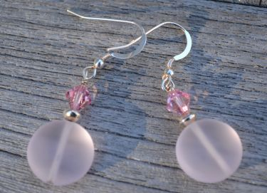 Seaglass Swarovski Earrings © Contemplation Marks