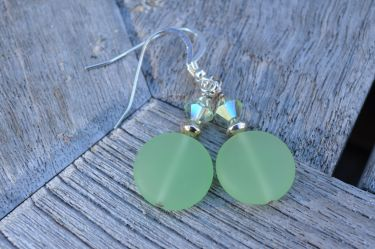 Sea Glass Earrings © Contemplation Marks
