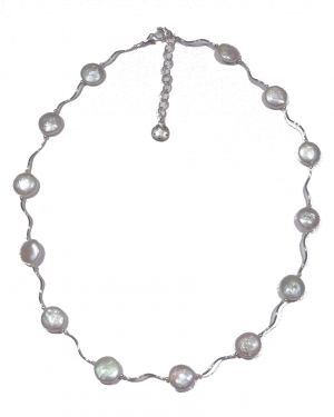 Coin Pearl Swirl Necklace © Contemplation Marks